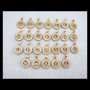 Jewelry - New gold filled letter CZ diamond necklace